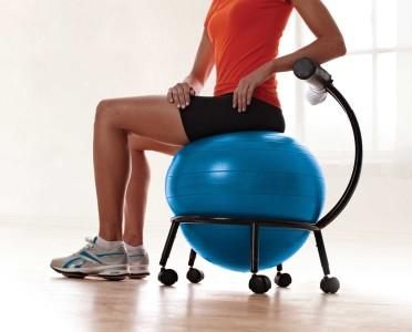 Gaiam Custom Fit Adjule Balance Ball Chair Exercises