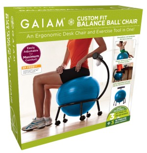 Gaiam Custom Fit Adjustable Balance Stability Ball Chair